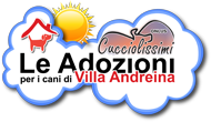 Le adozioni per i cani di Villa Andreina